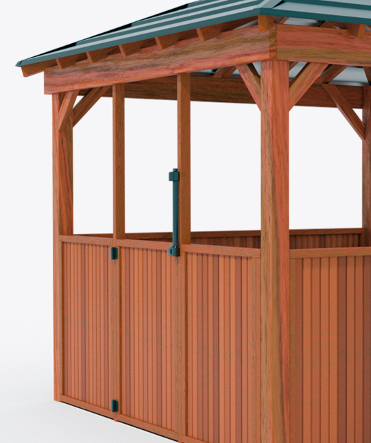 Gazebo Timber Fencing